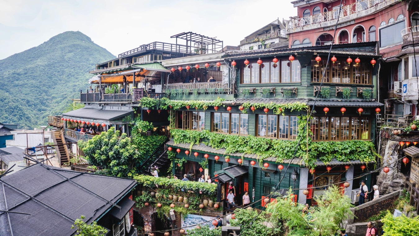 The famous teahouses of Jiufen near Taipei, Taiwan