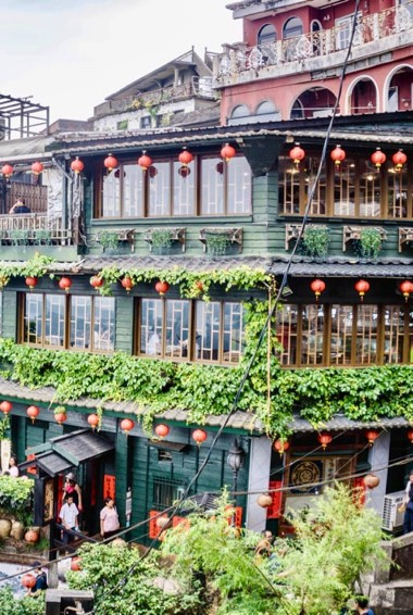 The traditional buildings of Jiufen, Taiwan