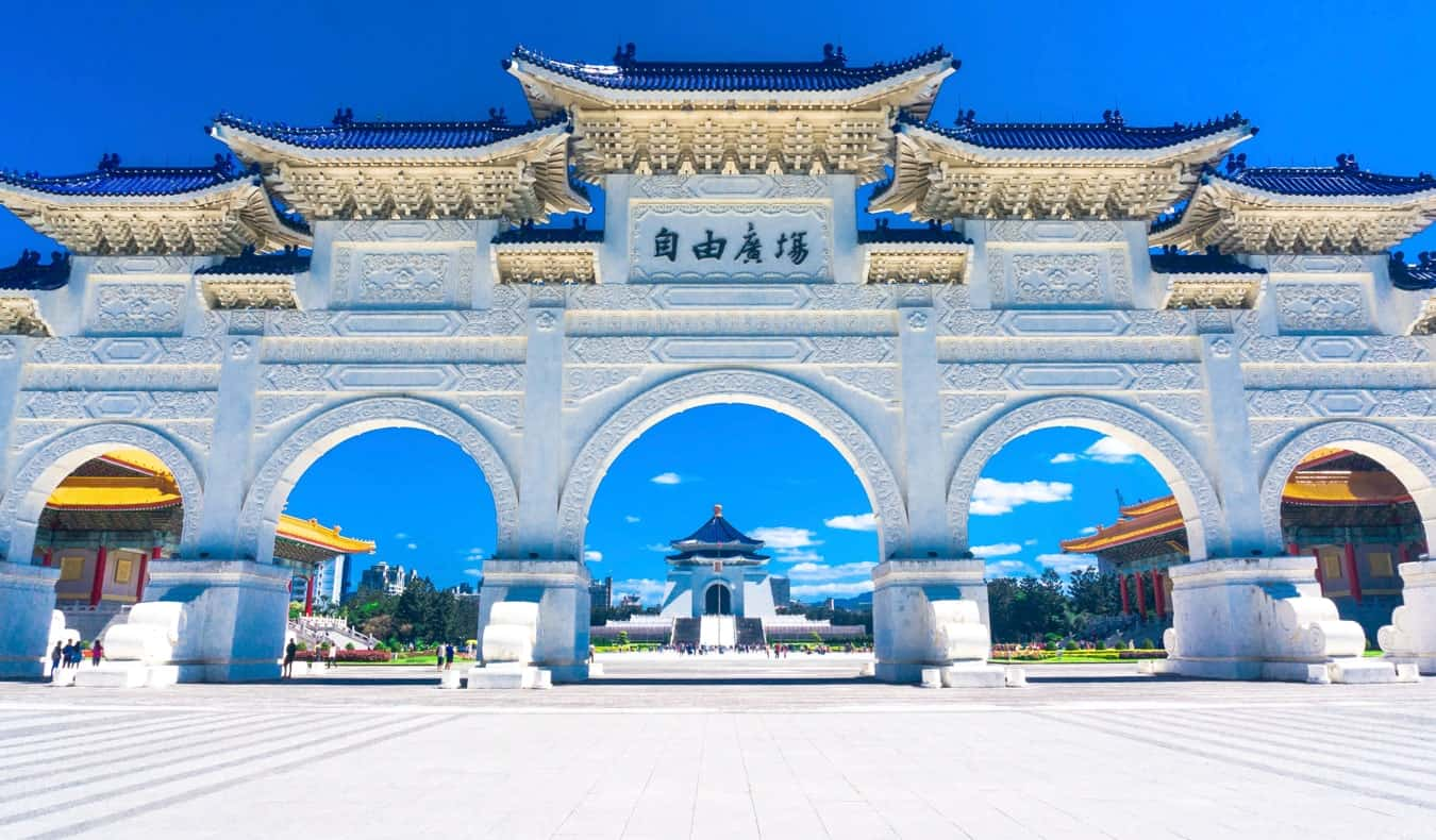 The historic Chiang Kai-shel Memorial in Taiwan