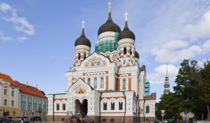 The famous Nevsky Cathedral in Tallinn, Estonia