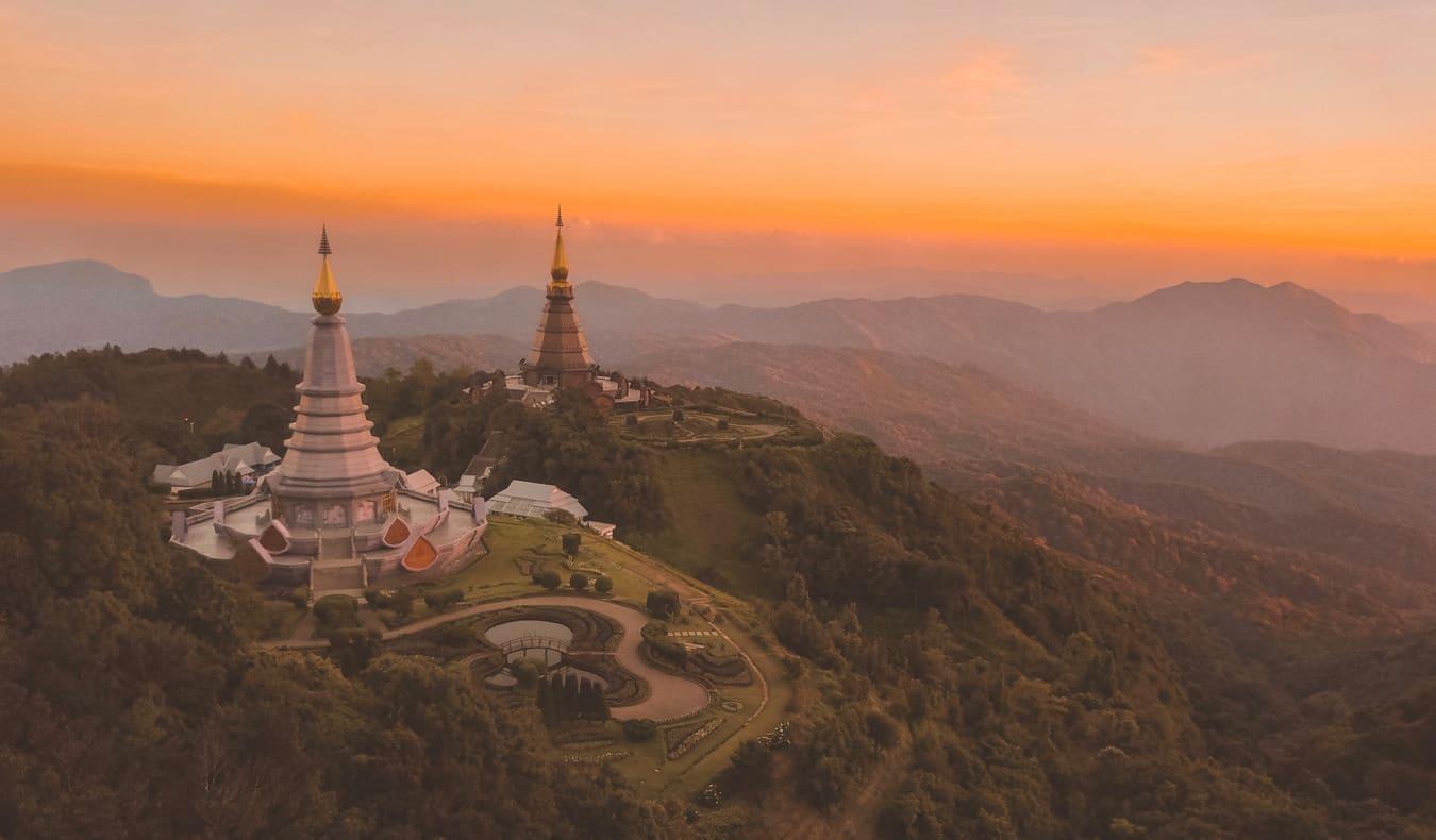 A beautiful sunrise in Chaing Mai, Thailand
