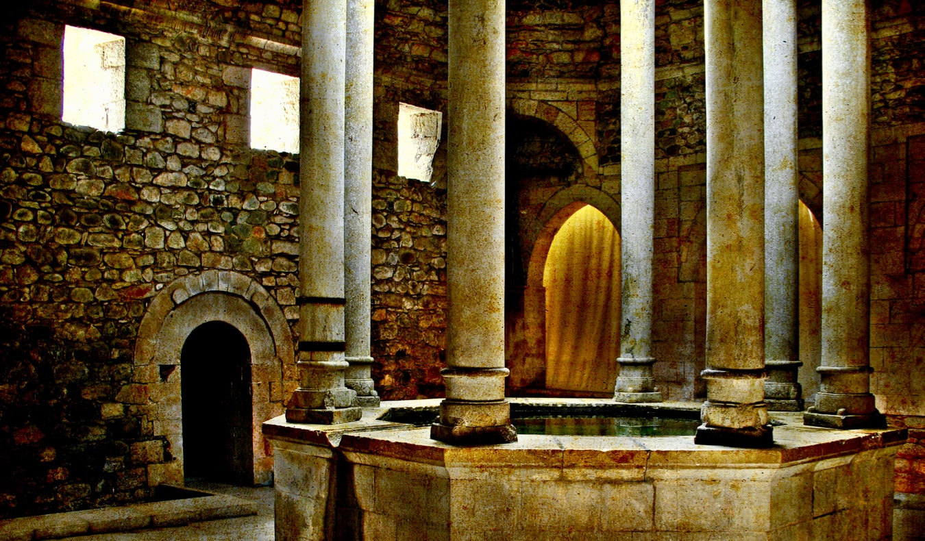 The ancient Arab baths in Girona, Spain