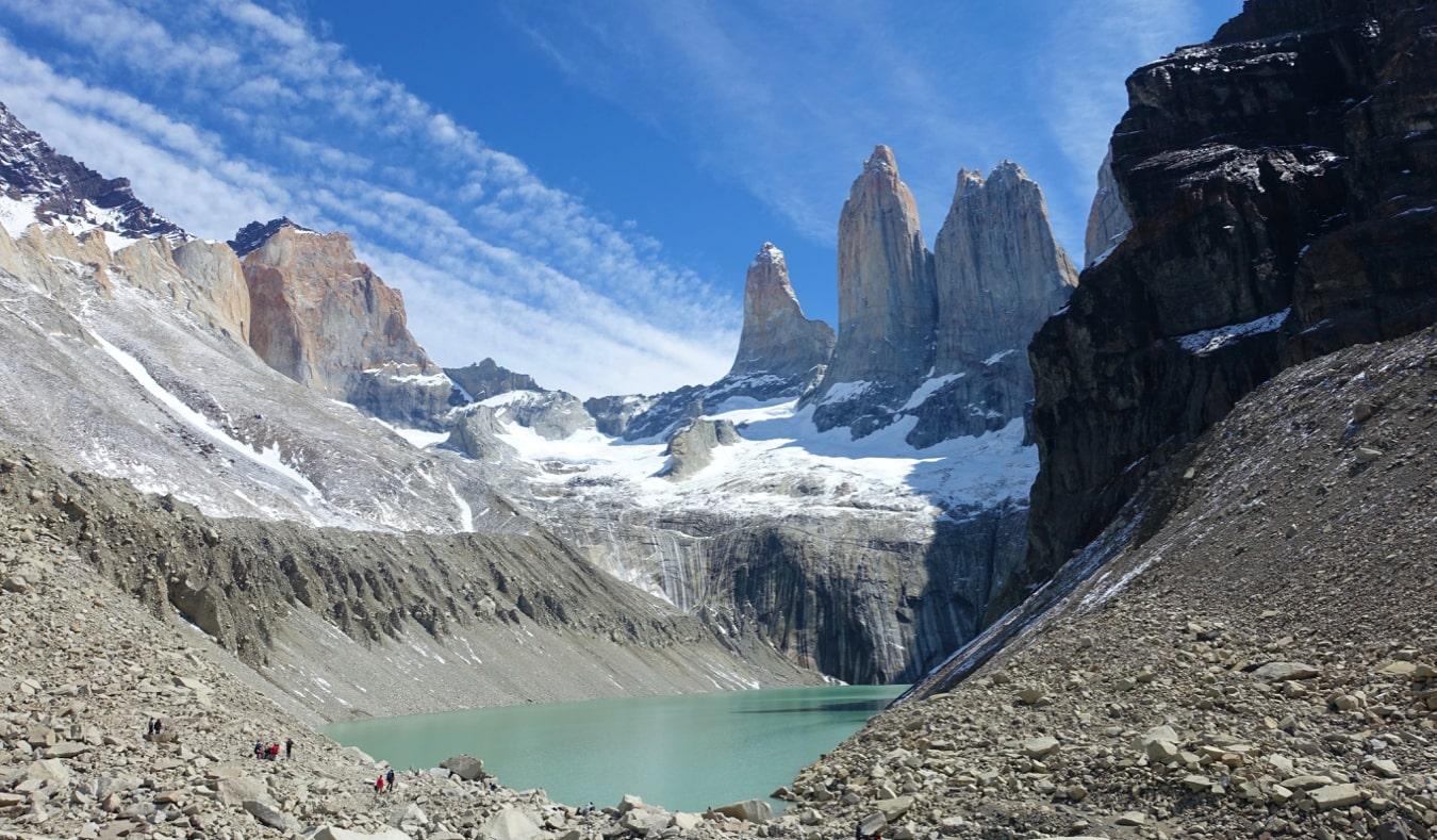 the famous W trek in Torres del Paine National Park