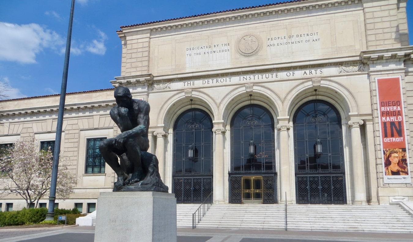 The exterior of the Detroit Institute of Arts in Detroit, Michigan
