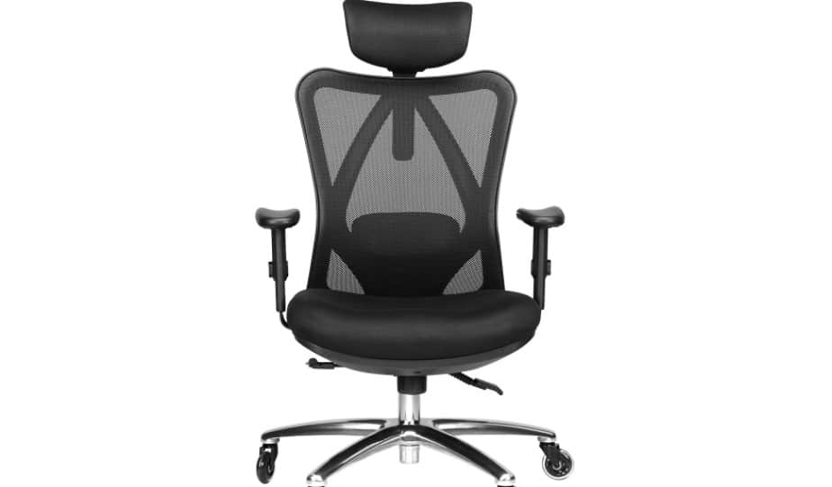 A comfortable office chair