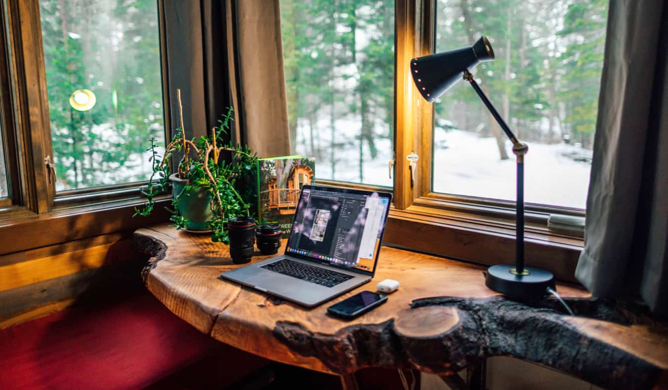 A cool home office for a remote worker