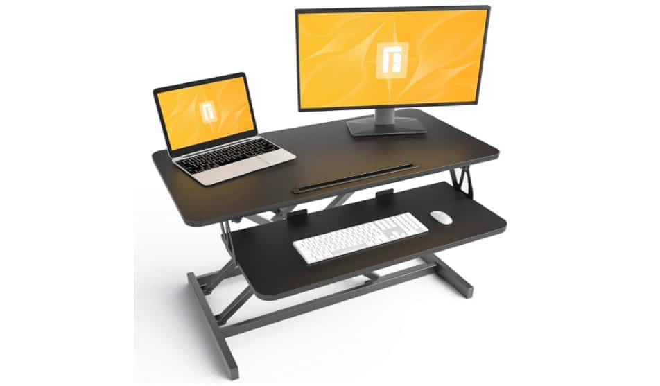 A standing office desk