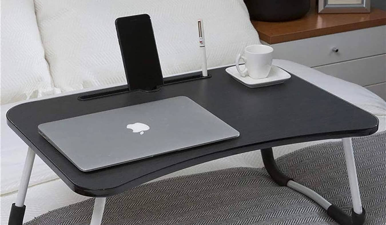A laptop bed/couch tray