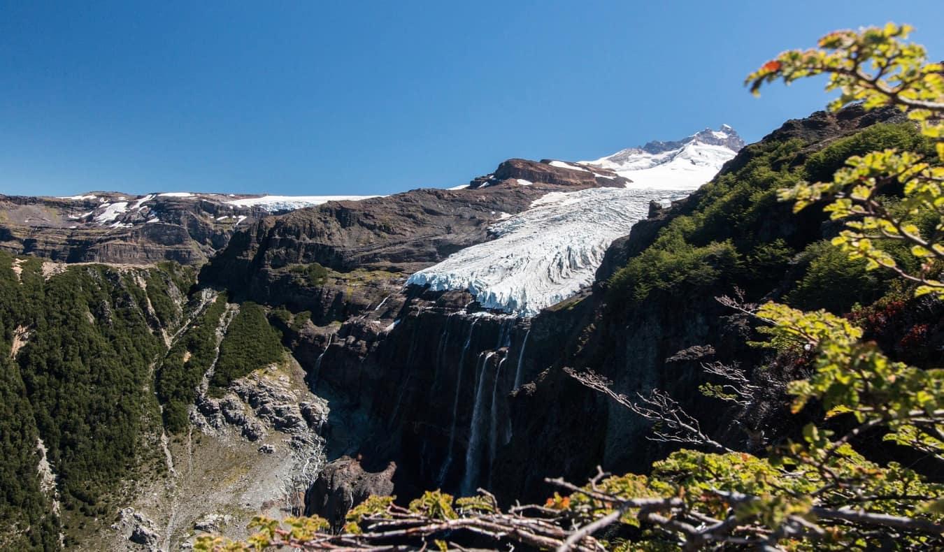 The beautiful mountains at Cerro Tronador in Argentina