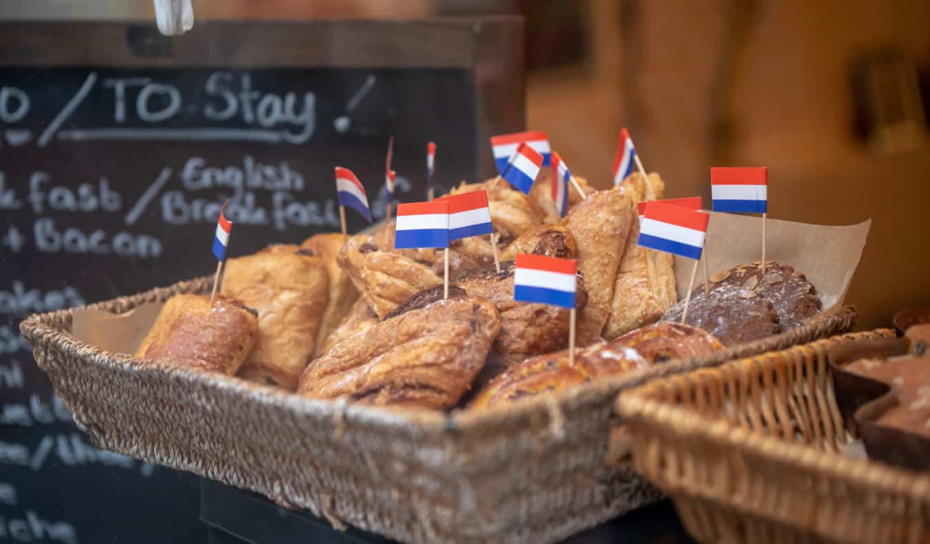 Delicious pastries at a small bakery in Amsterdam, Netherlands