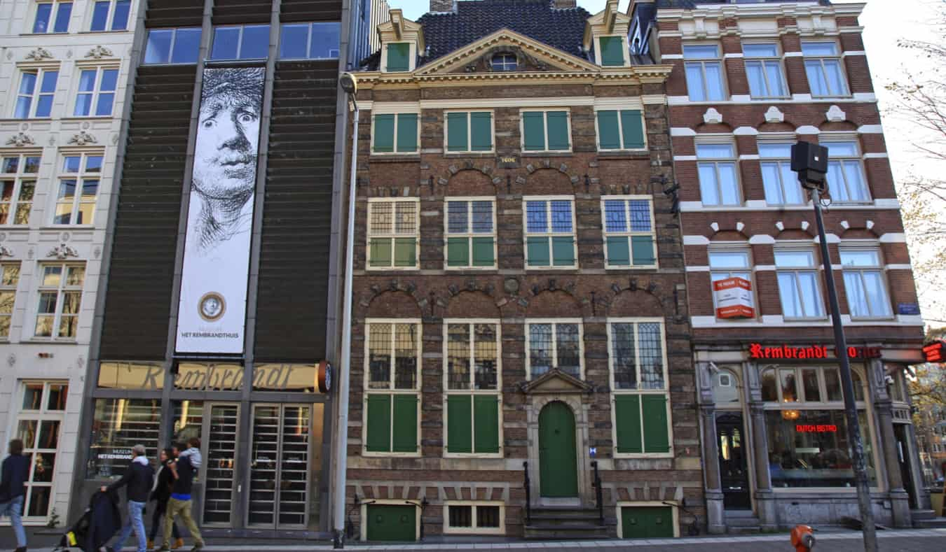 The exterior of Rembrandt House Museum in Amsterdam