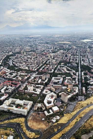 The city of Yerevan, Armenia