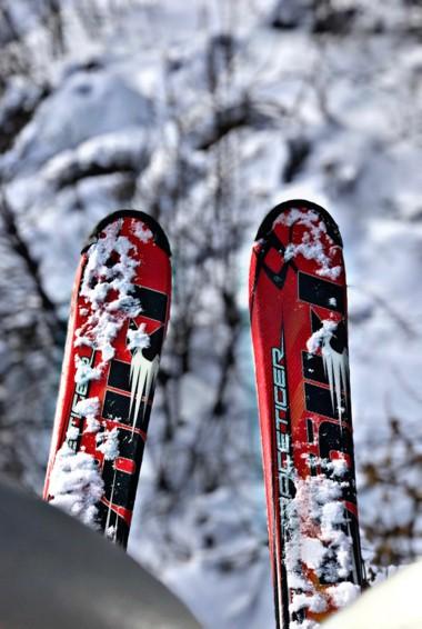 Skis in the resort of Tsakhkadzor, Armenia