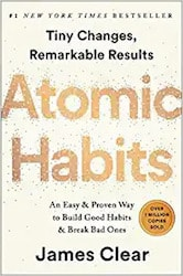 Atomic Habits book cover by James Clear