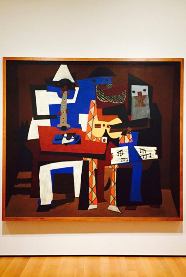 A painting by Picasso at the Picasso Museum in Barcelona, Spain