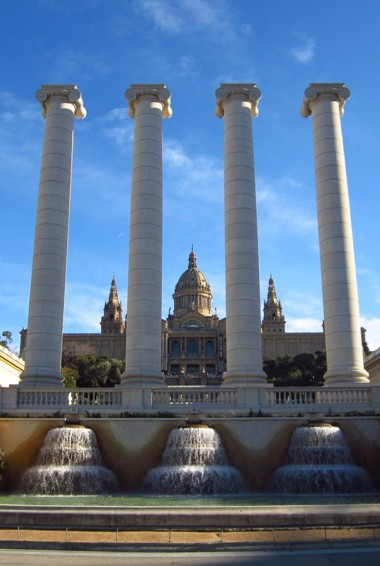 The exterior of the Barcelona History Museum in Spain