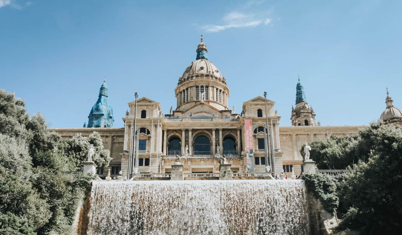 The museum on Montjuic Hill in Barcelona, Spain