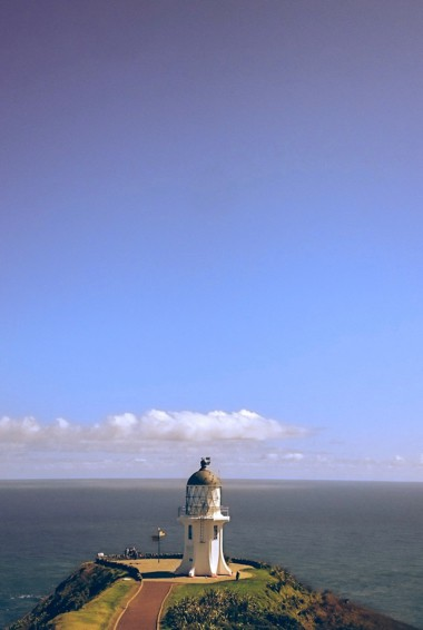 The lighthouse at Cape Reinga in New Zealand