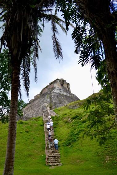 the Maya ruins of Xunantunich in Belize
