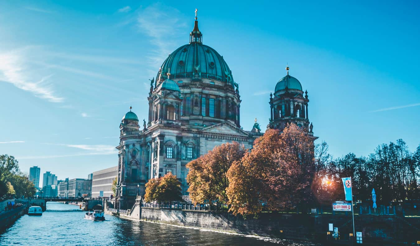 The iconic Berliner Dom on a sunny summer day in Berlin, Germany