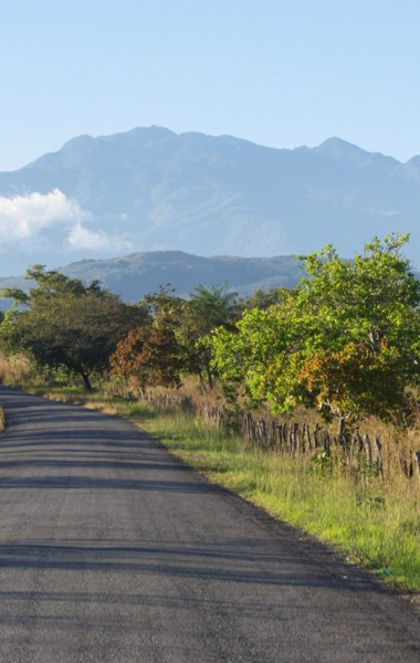A road leading to the Volcan Baru in Boquete, Panama