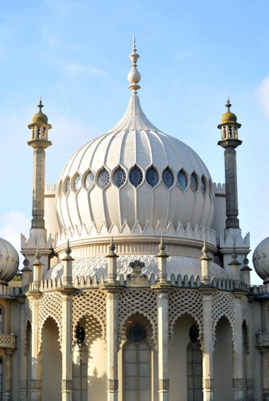 The exterior of the Royal Pavilion in Brighton, UK