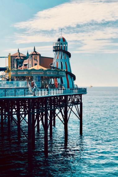 The famous Brighton Pier in Brighton, UK