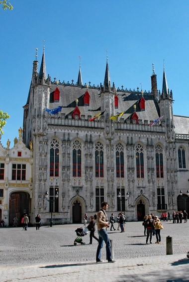 The historic Burg Square in Bruges, Belgium