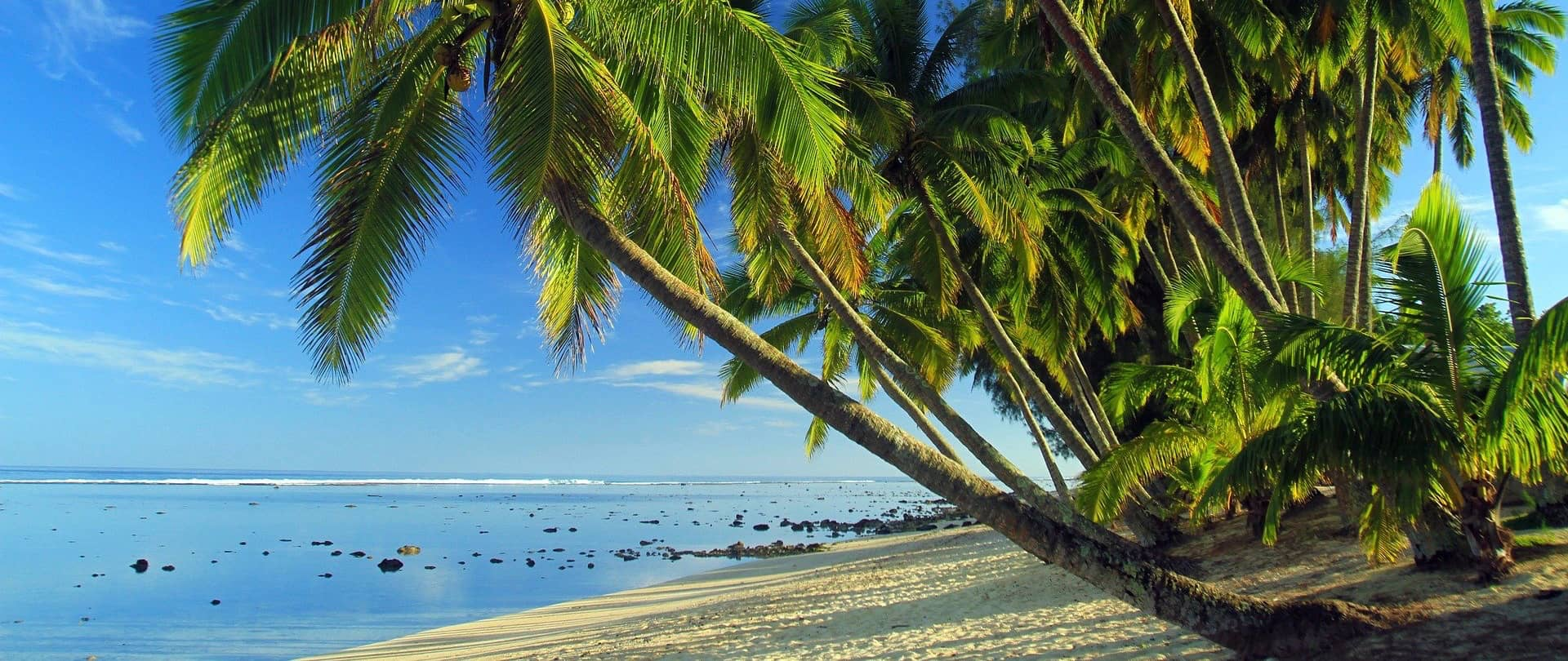 a tropical island in the Cook Islands