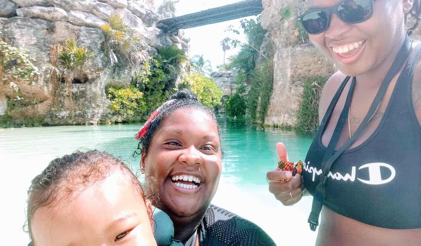 The Lewis family traveling abroad together