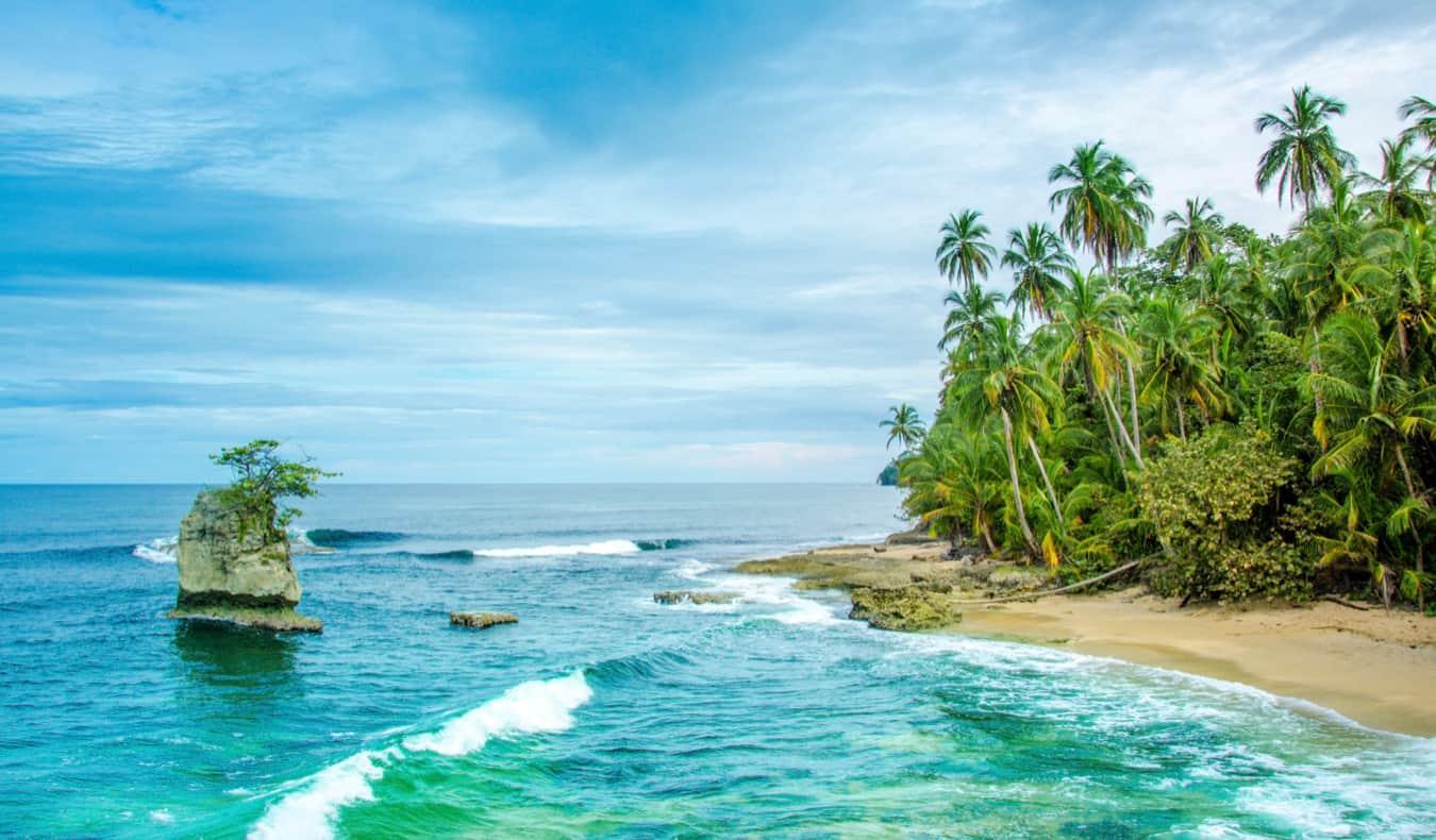 The beautiful, rugged coast of Manzaillo in Costa Rica