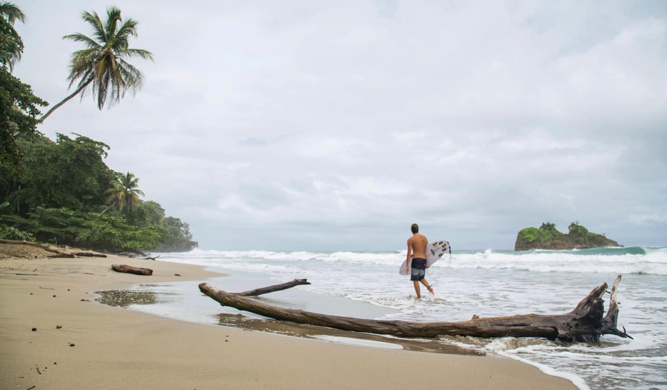The rugged coastline of Puerto Viejo, Costa Rica