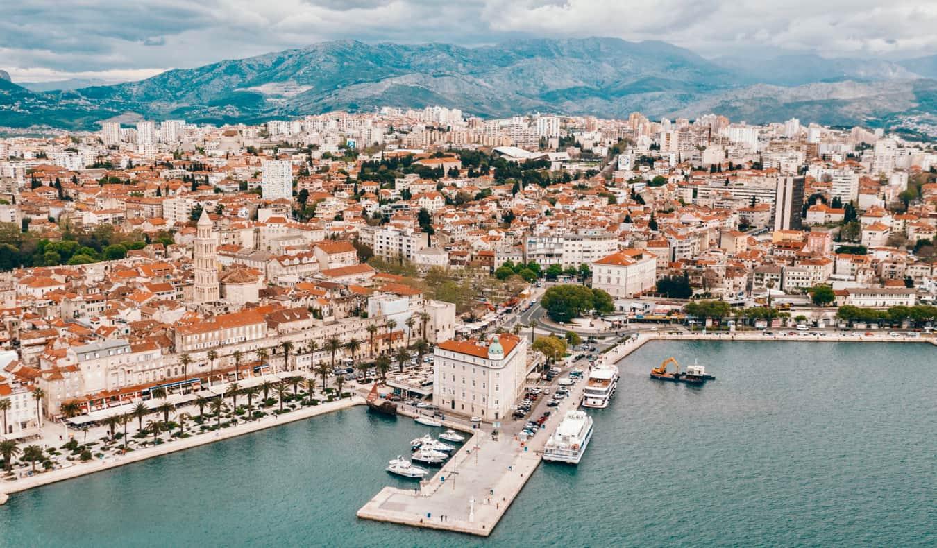 The scenic seaside town of Split, Croatia