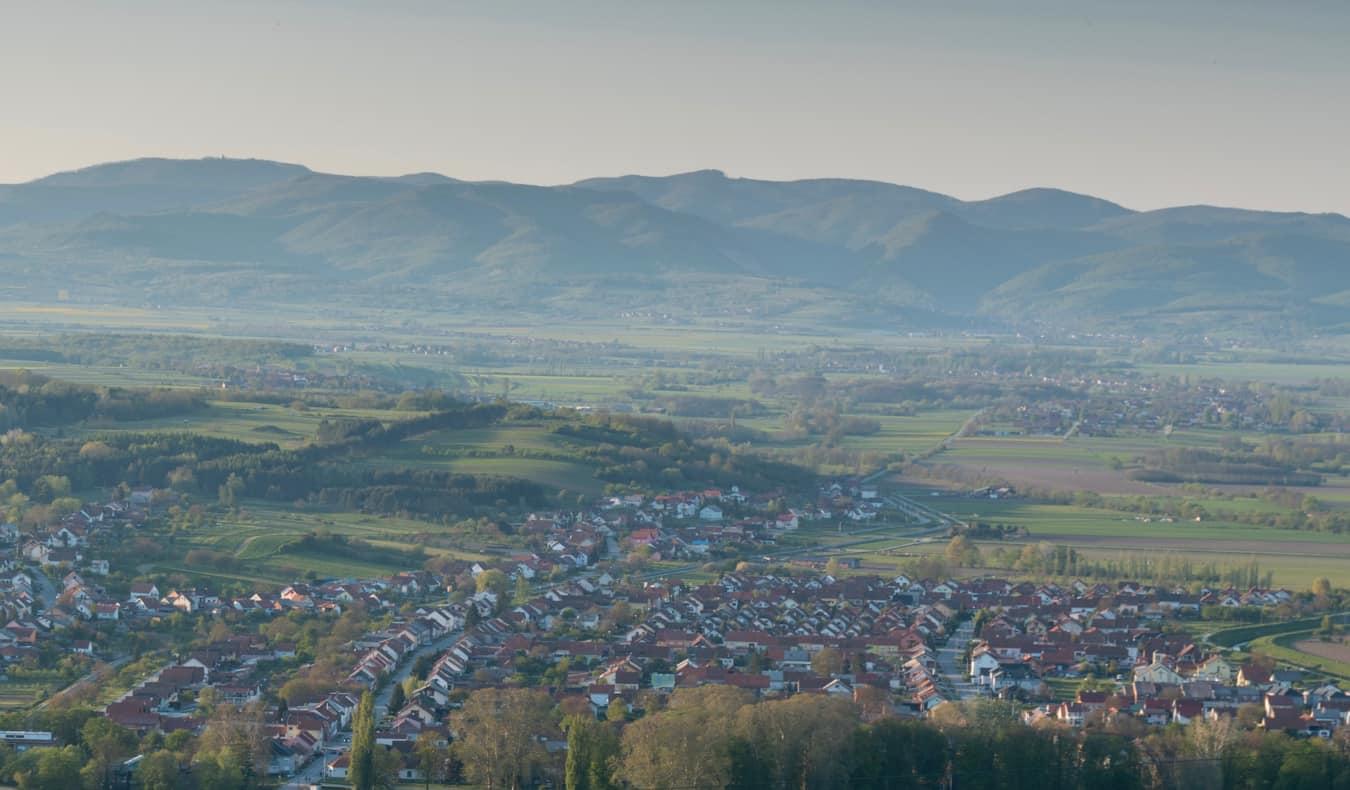A quiet village in the hills of Slavonia, Croatia