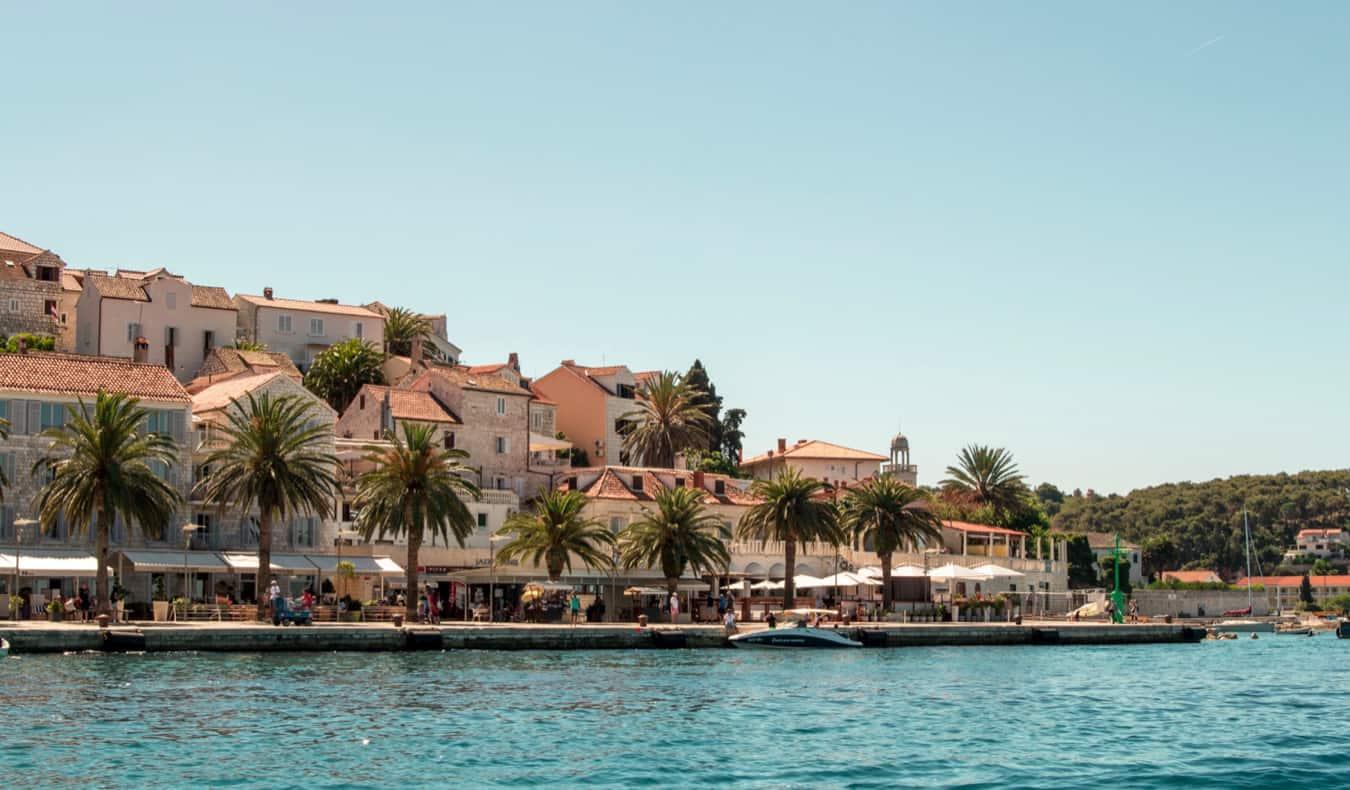 The popular party island of Hvar, Croatia