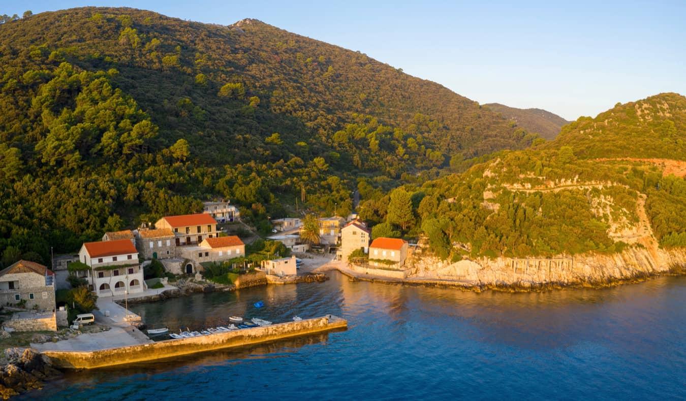 Lush greenery all over the island of Mljet, Croatia
