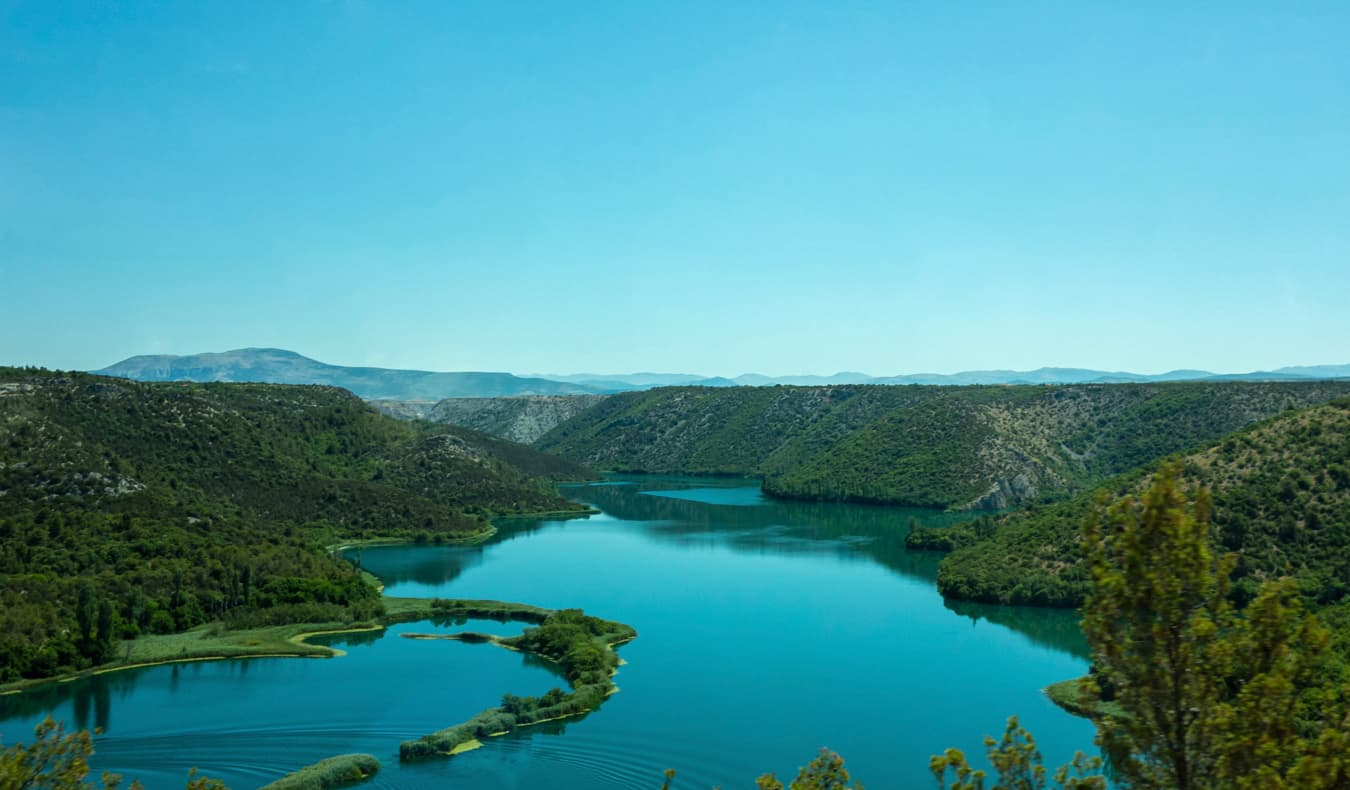 Stunning greenery and lush forests in Croatia