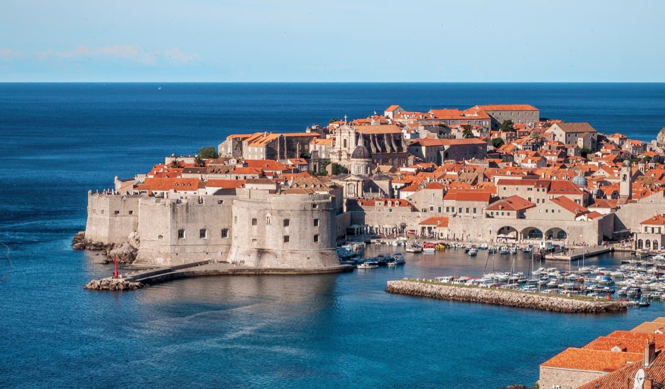 The historic old town of Dubrovnik, Croatia on the Dalmatian Coast