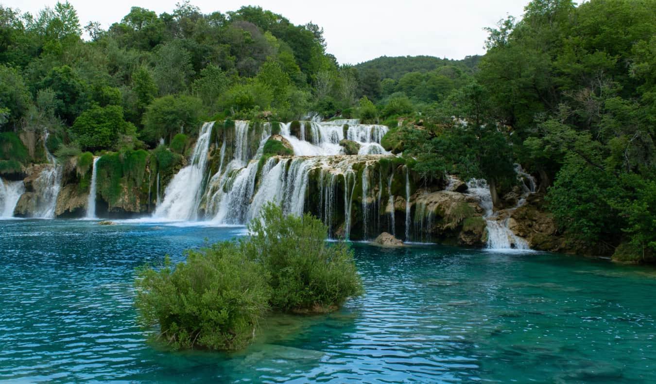 The famous waterfalls of Krka Park in Croatia