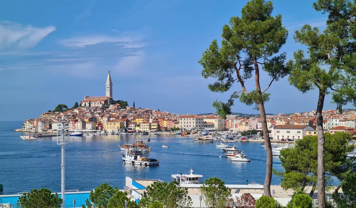 The charming town of Rovinj along the coast of Croatia