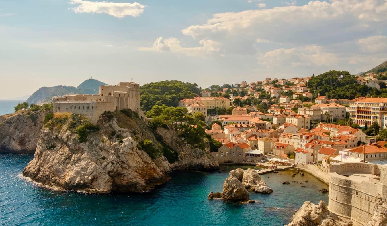 The historic old buildings of Dubrovnik, Croatia