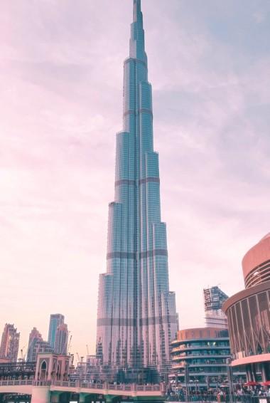 The Burj Khalifa in Dubai, UAE