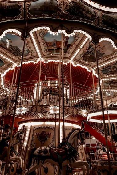 A merry-go-round in Global Village, Dubai