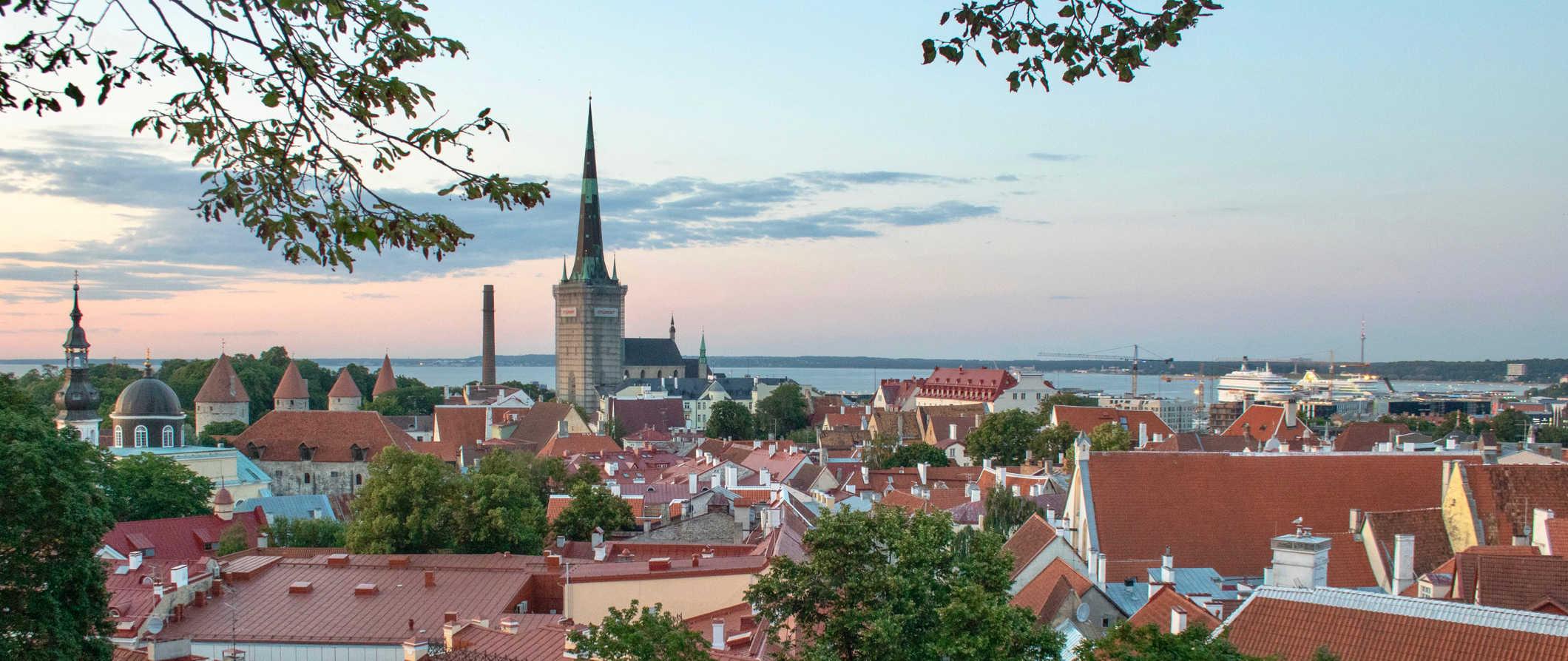 The historic Viru Gate in Tallinn, Estonia