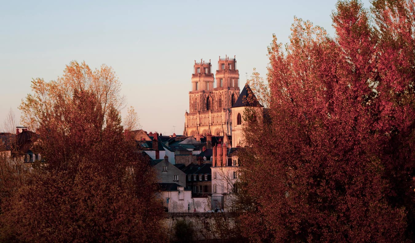 The historic city of Orleans and it's medieval bridge