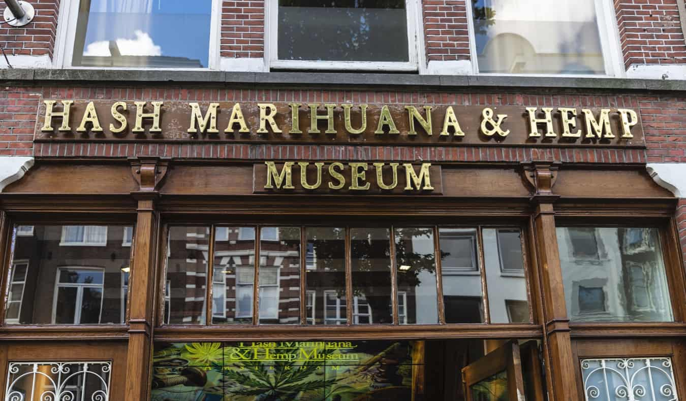 The Hash Museum exterior in Amsterdam, Netherlands