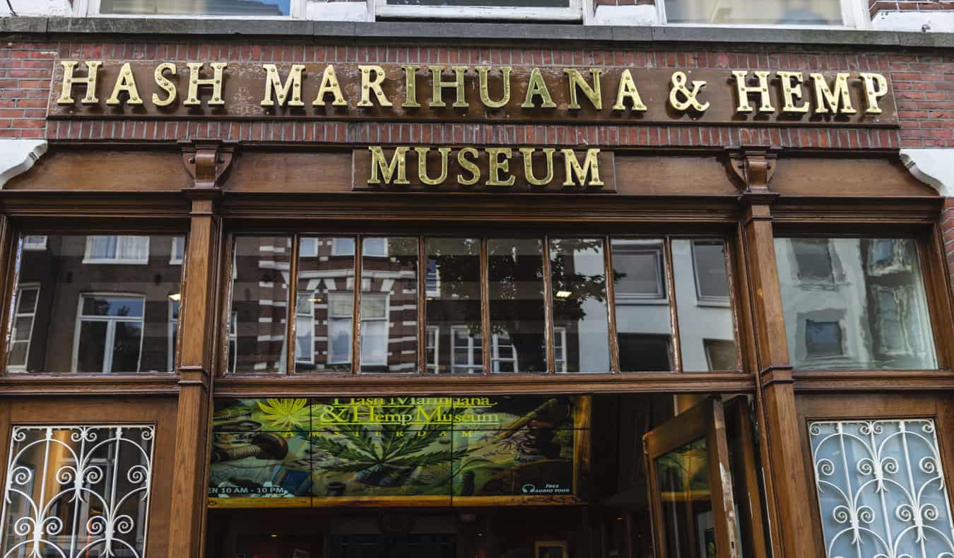 the exterior of the Hash Museum in Amsterdam, Netherlands