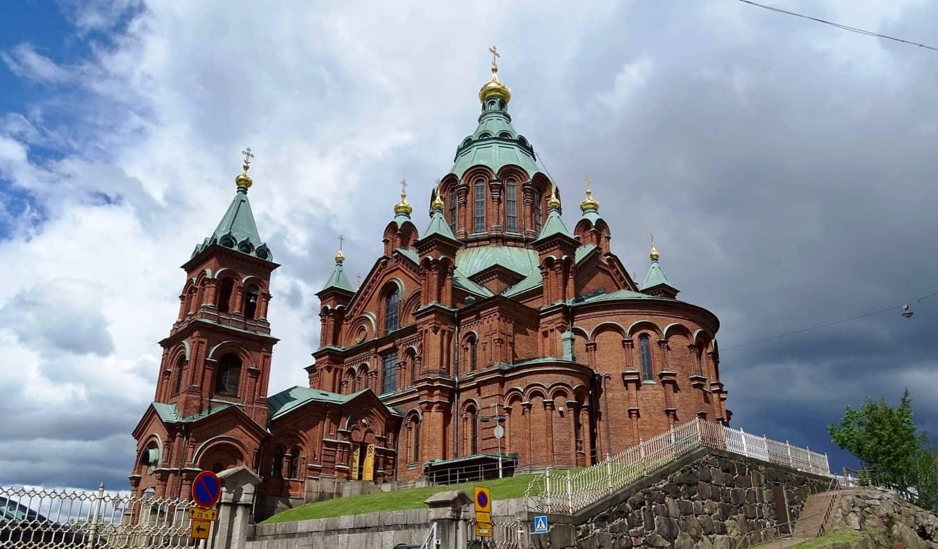 The Upenski Cathedral in Helsinki, Finland