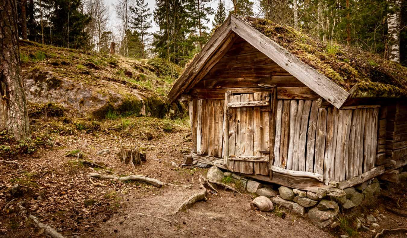 An old hut on Seurasaari Island in Helsinki, Finland
