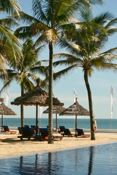 A beautiful beach in Hoi An, Vietnam